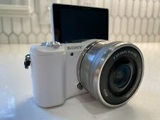 sony alpha a5100 mirrorless camera WHITE W/ Lens and Carrying Case!!!