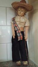 Vintage Antique Paper Mache Male Doll