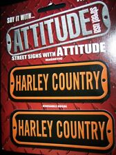 STREET SIGNS DECAL MAGNET HARLEY COUNTRY STICKER BIKER