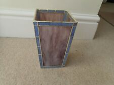 Decorative Stained Glass Patterned Square Vase With plastic liner NCC
