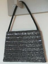 ACCESSORIZE Silver/Grey Beaded Small Evening/Occasion Bag