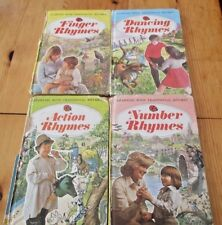4 VINTAGE LADYBIRD BOOKS- LEARNING WITH TRADITIONAL RHYMES.