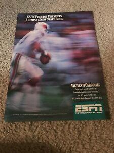 Vintage NEIL LOMAX ESPN Poster Print Ad 80s ARIZONA CARDINALS MINNESOTA VIKINGS