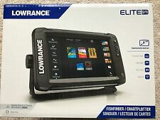 Lowrance Elite-9 Ti 000-13273-001 Combo w/ Mid/High/DownScan HDI Transducer NEW