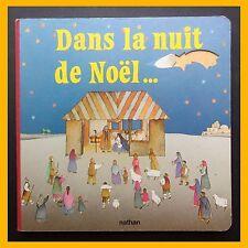 DANS LA NUIT DE NOËL… Livre à fenêtres Anna Curti 1985