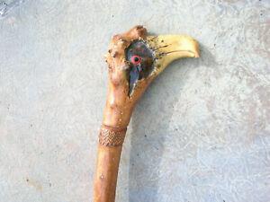 Vintage Carved Bird Head Walking Stick/Cane