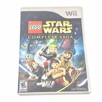 LEGO Star Wars: The Complete Saga (Nintendo Wii, 2007) Complete & Tested