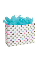 Playful Polkadot Paper Large Shopping Bag 16 x 6 x 12 Inches - Case of 100