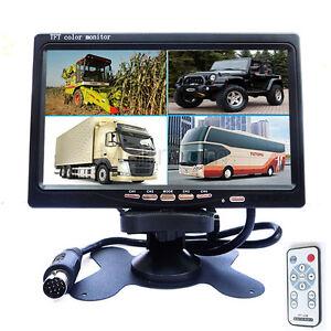 """7""""TFT LCD Auto Monitor Kopfstütze Unterstützung 4 Split 4-CH reversing camera,"""