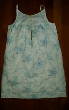 NWT Jack Rogers Blue White Floral  Sundress Dress  Sz 10 $278 Style 2710214FE