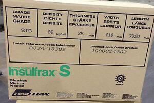 INSULFRAX  LTX  BLANKET 25x96kg/m3    BODY SOLUBLE CERAMIC FIBRE ALTERNATIVE