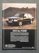 G420-Advertising Pubblicità - 1981 - FORD ESCORT XR 3 TRADIZIONE DI FORZA
