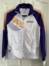 Women's White & Purple LA Lakers Track Jacket Size S Small