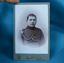 CDV Foto German Army Deutsches Heer Soldier 28th Infantry Regiment c1900
