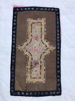 Antique Chinese Qing Dynasty Silk Embroidered  Wall Hanging Tapestry panel