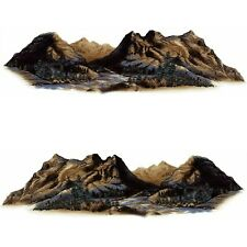 2 RV TRAILER MOUNTAIN SCENE DECALS GRAPHICS -66-3