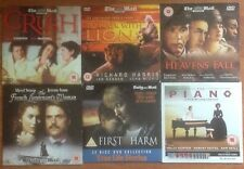 DVD x6 FRENCH LIEUTENANT'S WOMAN,THE PIANO,TO WALK WITH LIONS,CRUSH,HEAVENS FALL