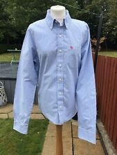 Mens Size Large, Abercrombie & Fitch Blue & White Striped 'Muscle' Shirt