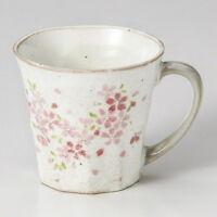 Mug cup Mino yaki ware coffee tea soup cup Mizutama Hakeme Sakura made in japan