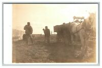 Scottsbluff, NE Horse Wagon Yackel Family Farm RPPC Real Photo Postcard 1904-18