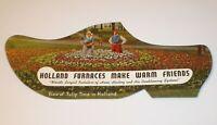 Vintage Holland Furnaces Diecut Dutch Clog Shoe Advertising Ink Blotter Card