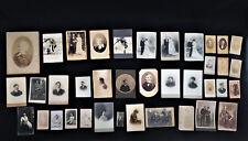 LOT 32  CDV + 5 PHOTOGRAPHIES ANCIENNES ROUILLER AUBE ANDUARD BERTHAUD  C1287