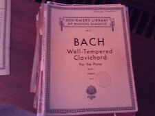 Bach, ed  Czerny: Well-Tempered Clavier, book 1, piano solo (Schirmer)