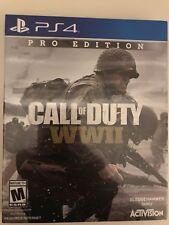 Call of Duty WWII WW2 World War 2 PS4 Pro Edition Steelbook + Season Pass SEALED