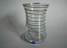 Vase Yellow Art Glassware Date-Lined Glass