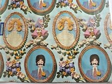 Vintage Gift Wrap Wrapping paper Bride Groom MCM Wedding Sealed 70's Mod NOS