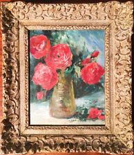 Red Flower in Vase Oil Painting