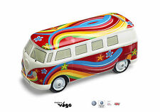 "Original VW Spardose ""Flower Power Bulli"", Rot,"