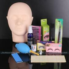 Pro Mannequin Training Head Make Up Individual False Eyelash Extensions Practice