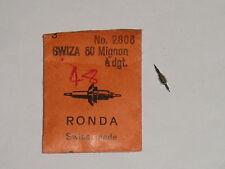 Swiza balance staff 50 Mignon à doigt finger (ht.844) Unruhwelle Ronda 2806