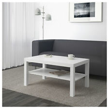 Coffee End Table Rectangle Modern Living Room Shelf WHITE