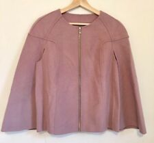 new ladies Premium Quality Woolen Cape Size M Pink And Silver Trim Sample Sale