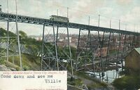 JERSEY CITY NJ – Elevated Road to Jersey City Heights – udb – mailed 1908