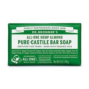💚 Dr. Bronner Organic Almond Pure-Castile Bar Soap 140g