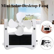 Portable Solar Power Cap Hat Clip on Mini Cooling Fan Desktop USB Hanging Cooler