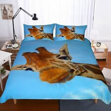 3D Giraffe Bedding Set Duvet Cover Comforter Cover Pillow Case New
