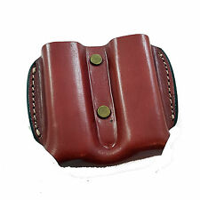 Armadillo Holsters Leather Double Mag Pouch for Single Stack Magazines