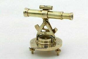 Nautical Solid Brass Collectible Marine Theodolite Alidade Telescope Gift