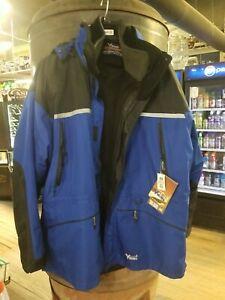 NEW Viking Tri-Zone Men's Size 3XL Jacket Detached Hood & Inner Fleece 858JBB