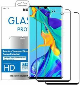 Huawei P30 LITE - 2 Films en verre trempé protection écran résistant (Noir)