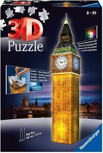 RAVENSBURGER PUZZLE 3D - BIG BEN NIGHT EDITION  226 PZ  18x18x44cm ETA' 8+ 12588