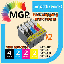 10x GENERIC INK cartridges T133 for Epson Stylus N11 NX125 NX130 NX230 NX420