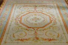 Miniature Elegant Pastel Blue Victorian Beautiful Rose Swirls Dollhouse Lace Rug