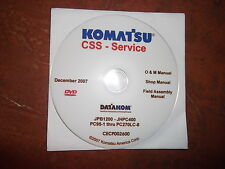 KOMATSU PC95-1 THRU PC270LC-8 EXCAVATOR SERVICE SHOP REPAIR MANUAL CD