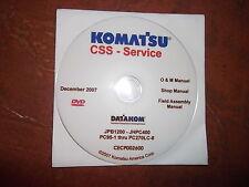 KOMATSU PC95-1 THRU PC270LC-8 EXCAVATOR SERVICE SHOP REPAIR MANUAL CD