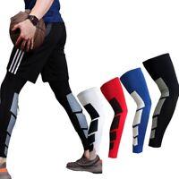 Manica a compressione gamba elastica antiscivolo lunga per supporto polpacci f /